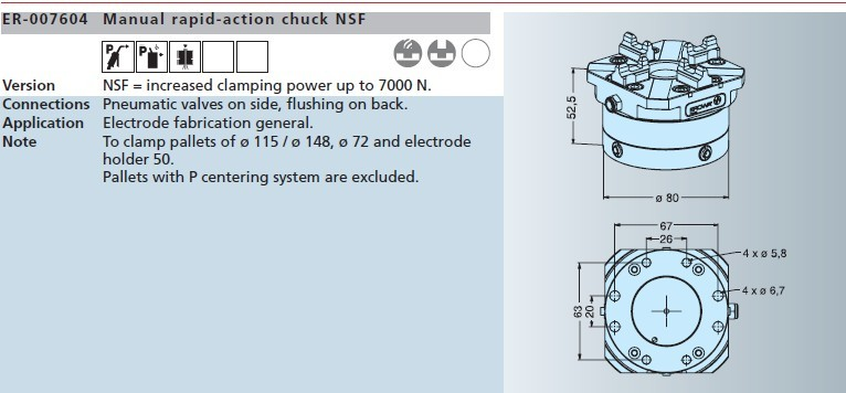 ER-007604 erowa手动快速卡盘nsf