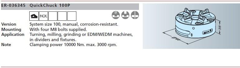 ER-036345 erowa快速卡盘100p