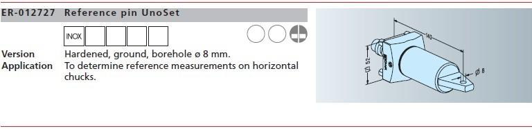 ER-012727 EROWA基准杆 Unoset