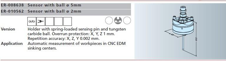 ER-008638 er-010562 erowa球头传感器φ5mm