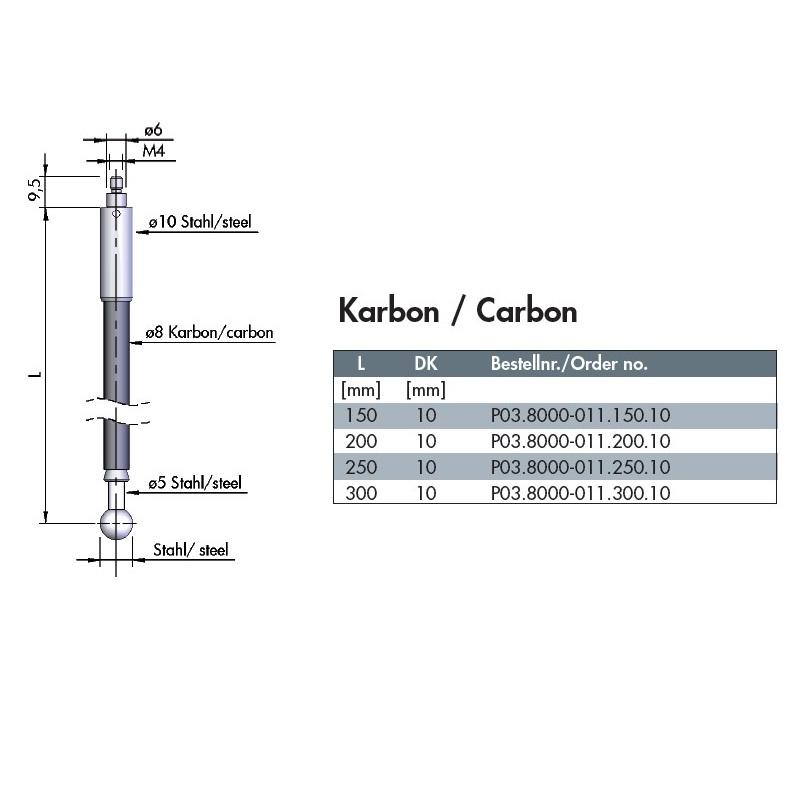 波龙(BLUM)碳纤维探针 (用于tc50/51) 011.150.10