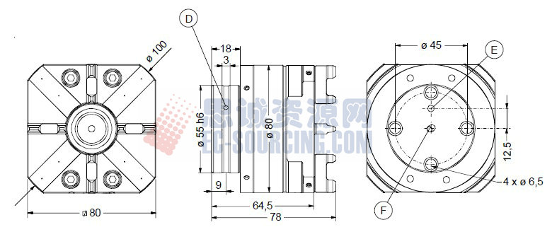 ER-007523 erowa夹具自动快速卡盘