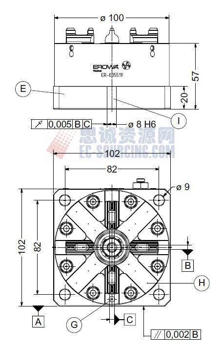 ER-035519 erowaits卡盘100p 102 x 102
