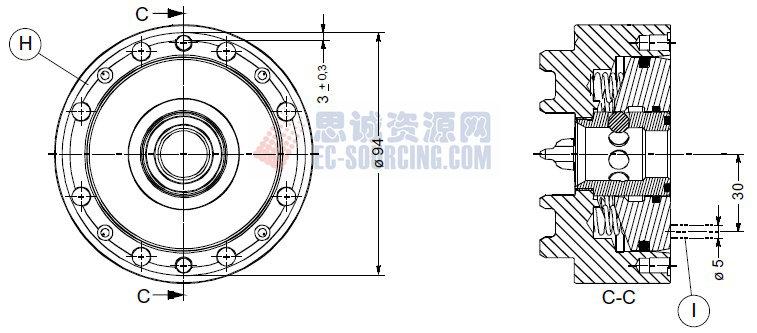ER-037970 erowa its卡盘100p,不带底板