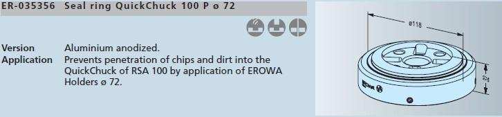ER-035356 erowa 密封环 快速卡盘100p/ ø72