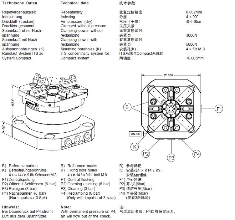ER-020027 its compact combi卡盘 连托板
