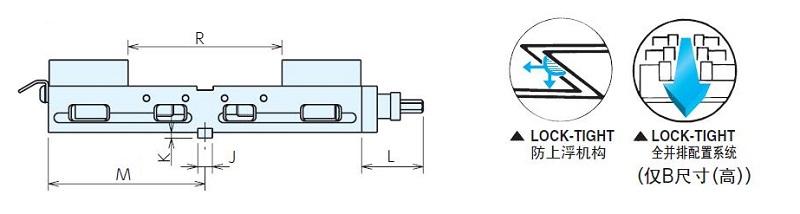 NABEYA-LOCK-TIGHT铝制双口平口钳LTAW100