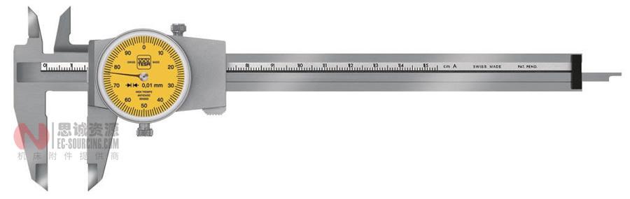 瑞士TESA CCMA-M, 0.01mm带表卡尺