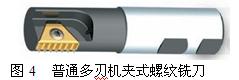 普畅通多刃机夹式螺纹铣刀