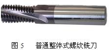 普畅通所拥有式螺纹铣刀