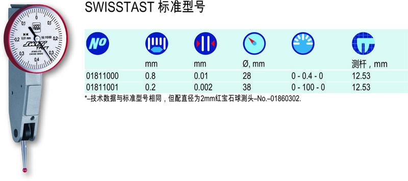 瑞士TESA杠杆指示表