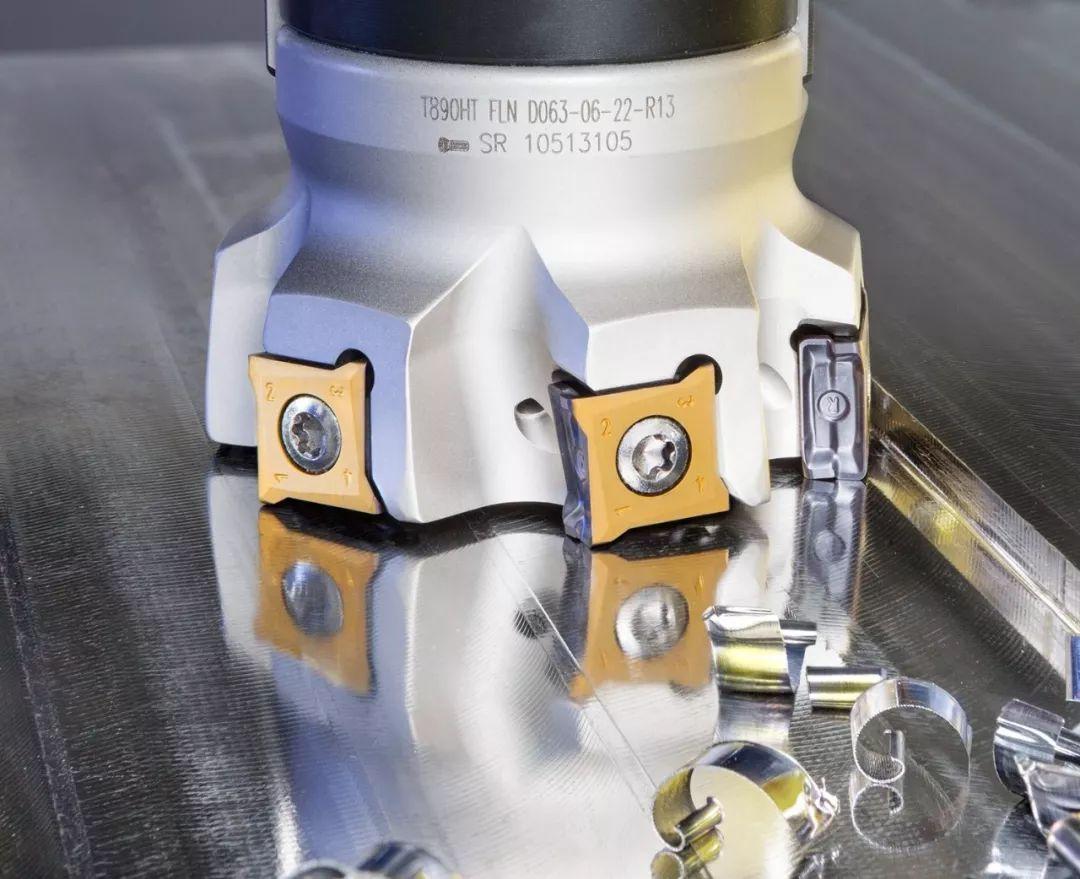 伊斯卡推出90°铣刀LOGIQ-8-TANG,刀片带8个切削刃