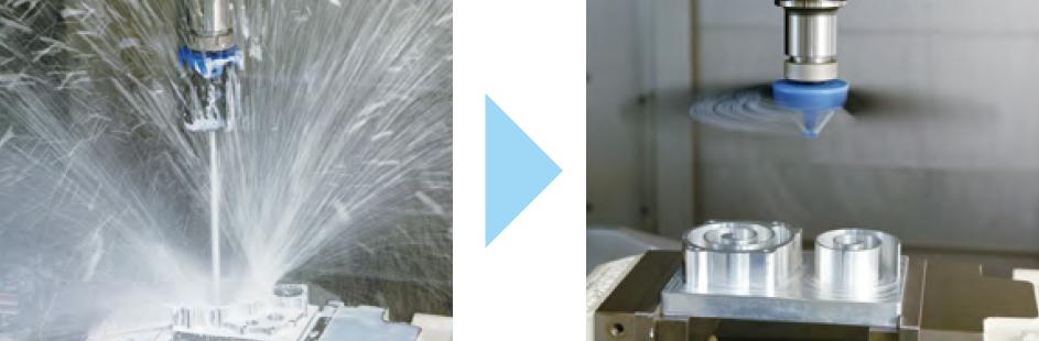 自动化线上的切屑如何清除?