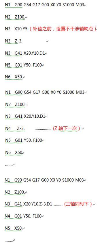 G41G42半径补偿怎么用