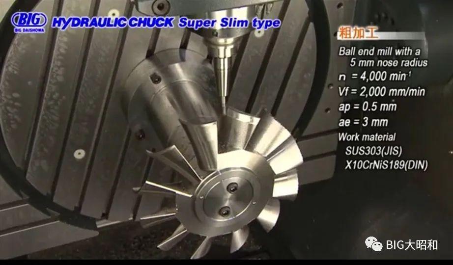 日本BIG液压刀柄的五轴加工视频