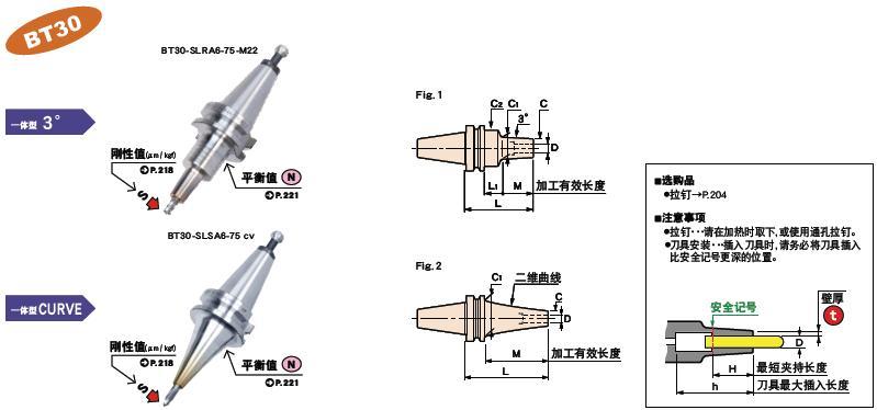 日本MST热装刀柄BT30一体型