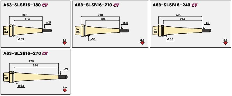 日本MST热装刀柄A63一体型