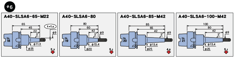 日本MST热装刀柄A40一体型