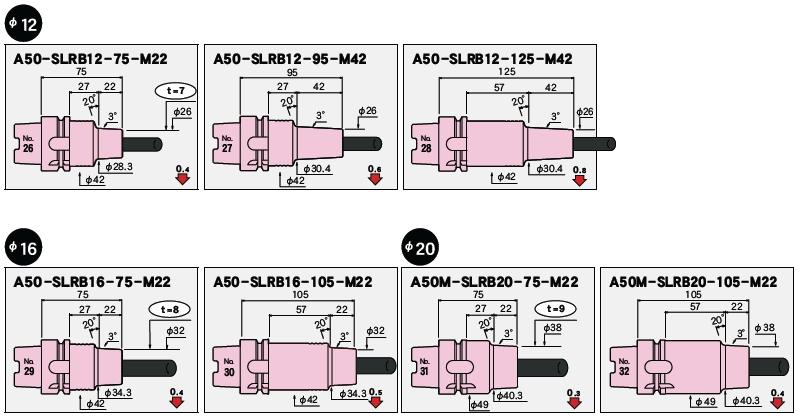 日本MST热装刀柄A50一体型