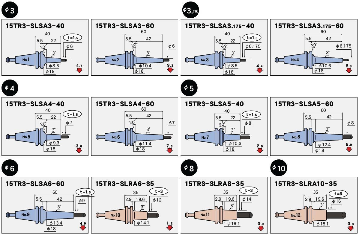 日本MST热装刀柄15t一体型