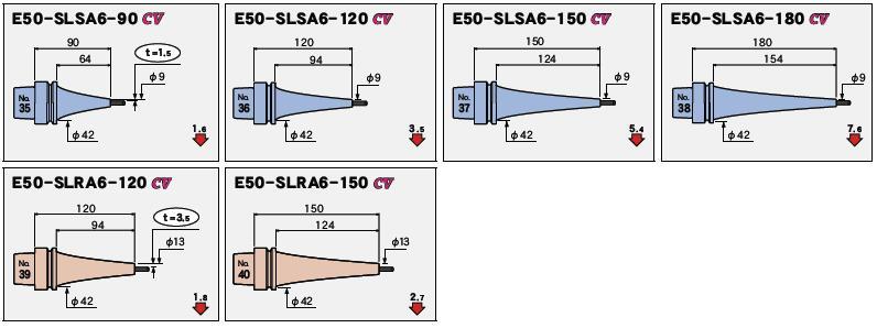 日本MST热装刀柄E50一体型