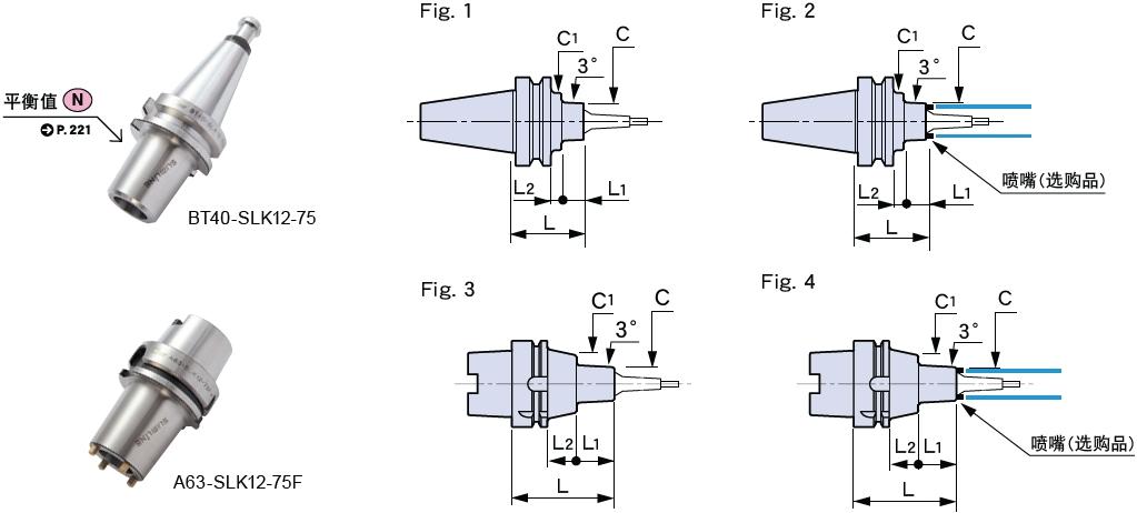 日本MST热装刀柄12型两体型