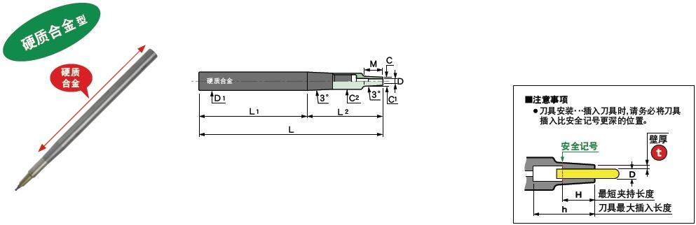 日本MST硬质合金直柄刀杆
