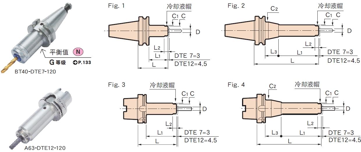 日本MST deta-1超弹性弹簧筒夹刀柄 e型(dte)