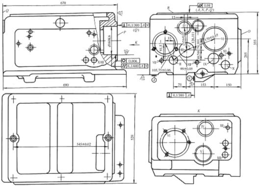 立式加工中心主轴箱结构图
