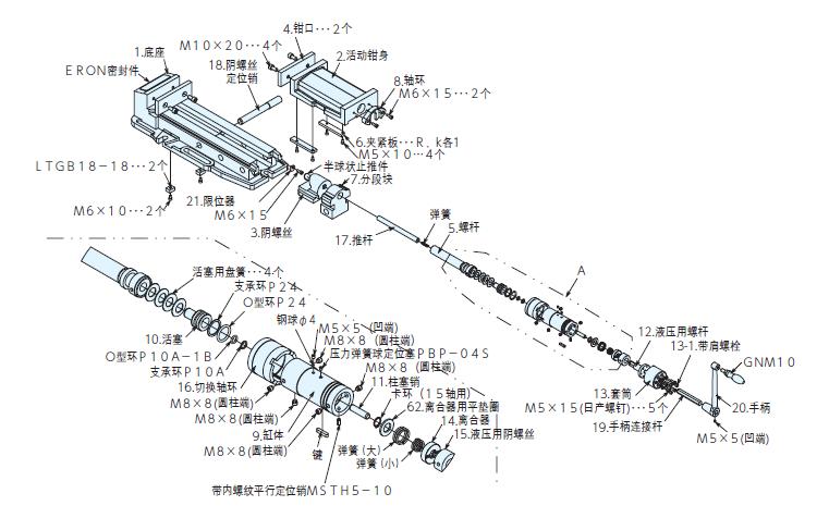 液压机构零件图片