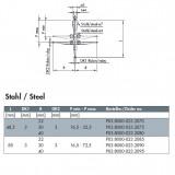 波龙(BLUM)钢质杆红宝石探针(For TC53/54/76) ECP03.8000-023.2010