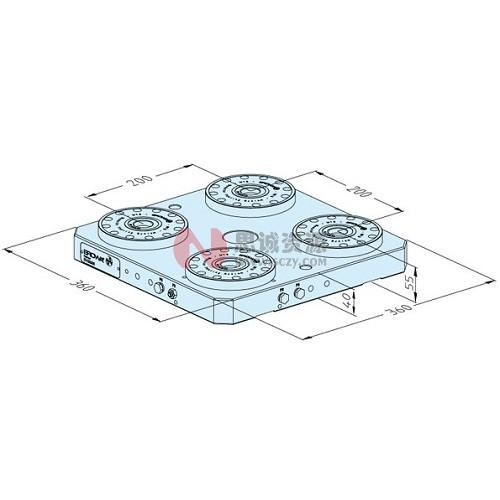 ER-033300 MTS基础板360 x 360 P