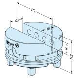 ER-035211 EROWA夹具直槽夹头Ф72mm