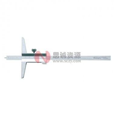 桂林广陆深度尺 带针游标深度尺
