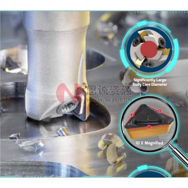 伊斯卡ISCAR 微小直径立铣刀 直径范围10-16mm 螺旋刃铣刀