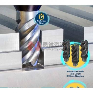 伊斯卡ISCAR 可换头式硬质合金立铣刀 长切削刃,长径比1.5xD 长切削刃铣刀头