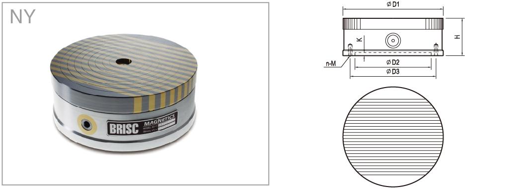平行磁极圆形永磁吸盘